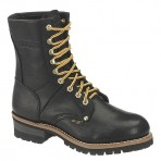 1439A Men's Black Logger Boots