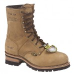 2426A Women's Brown Steel Toe Logger Boots