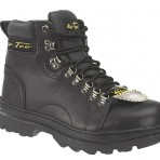 1980A Black Steel Toe Hiking Boots