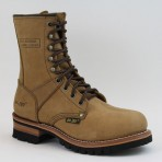 2427A Women's Brown Logger Boots