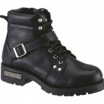 8143A Ladies Black Side Zip Biker Boots