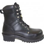 9491A Men's Black Super Logger Steel Toe Boots